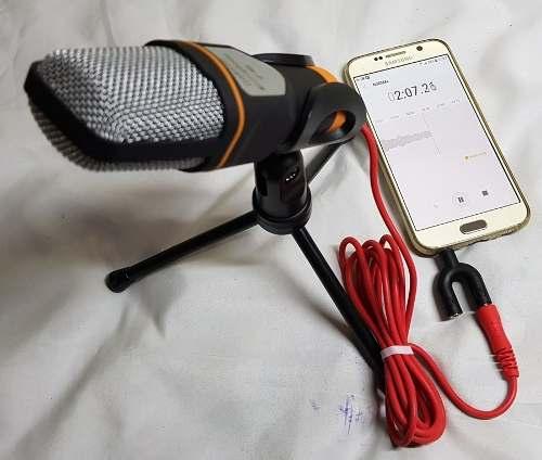 Microfone Condensador SF-666 + Adaptador P3 para Celular