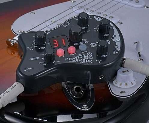 Pedal de Efeito Ammoon PockRock com 40 ritmos de bateria