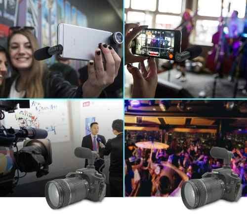 Microfone Direcional Para Celular e Câmeras DSLR