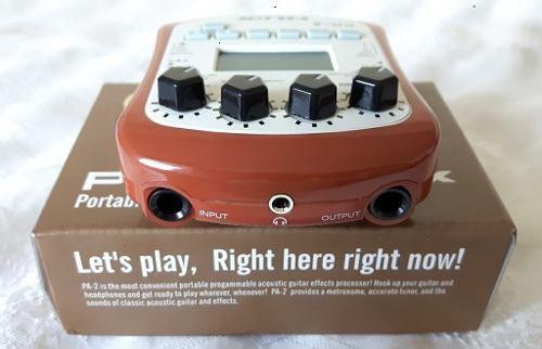 Processador Efeitos Para Guitarra- Nux PA-2 (acústico) + Fonte Estabilizada 9v