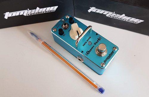 Pedal Guitarra Reverb TomSline Ocean Verb + Fonte 9v