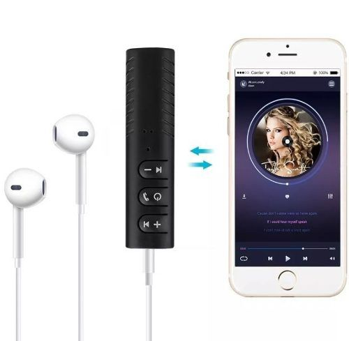 Receptor de áudio Bluetooth Com Saida de Audio P2 Para Fones e Som Com Entrada AUX
