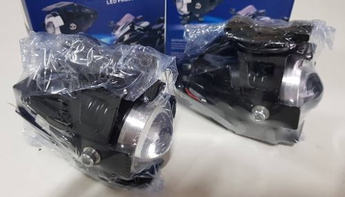 Par Farol De Milha Led Auxiliar Moto Neblina Potente