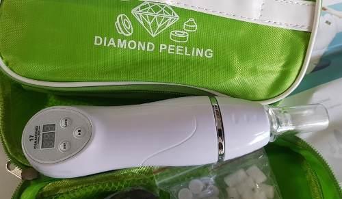 Aparelho de Peeling Diamante Dermoabrasão Sucção Cravos Espinhas Limpeza Pele