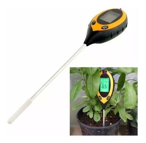 Medidor de PH Luminosidade Umidade e Temperatura Solo Plantas