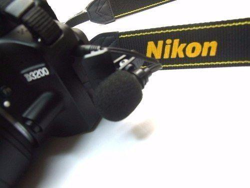 Microfone Lapela conexão P2 - 3,5mm Para câmeras DSLR