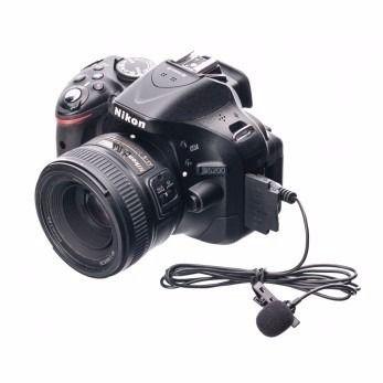 Microfone Lapela conexão P2 - 3,5mm Para câmeras DSLR + extensor de 1,8m