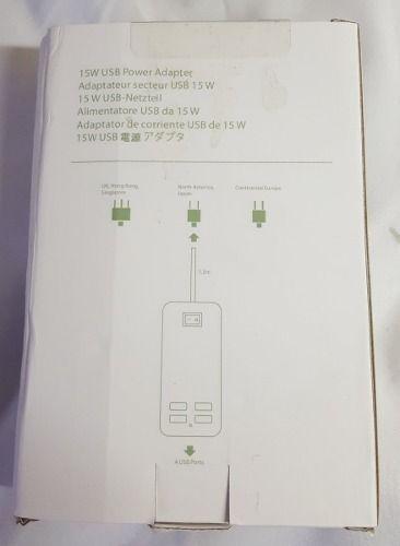 Fonte Carregador 4 Entradas USB 5v 3a 15w