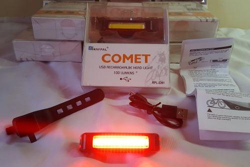 Lanterna Farol Dianteiro Ou Traseiro LED para Bicicleta 100 Lumens USB
