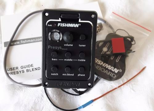 Captador Fishman Presys Blend 301 com microfone interno