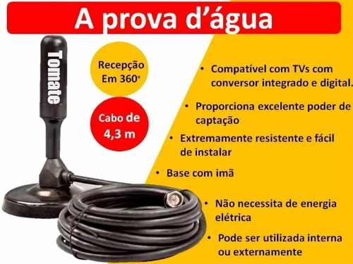 Antena TV Digital Tomate Original A Melhor Do Mercado 3.5 dbi