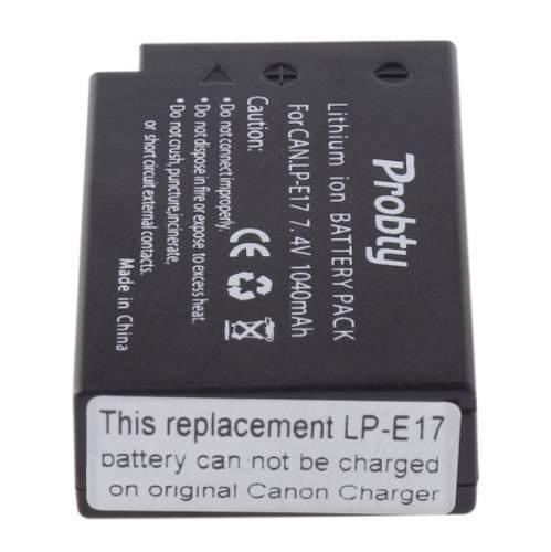 Kit 2 Baterias LPE17 + Carregador Duplo com LCD Para Canon