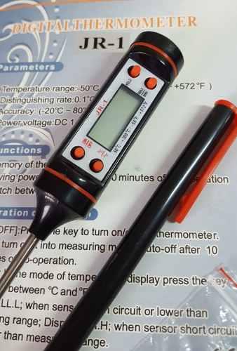 Termômetro Cozinha Digital Tipo Espeto para Culinária