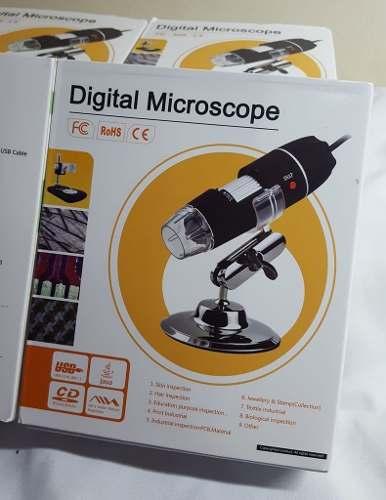 Microscópio Digital USB 1600x + Cabo OTG original Para Celular Android