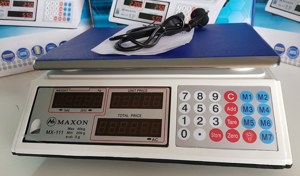 Balança Digital De Mesa 40kg com bateria interna (bivolt)