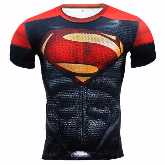 Camisas Herois Super Homem Aranha Capitão America Musculação MANGA CURTA