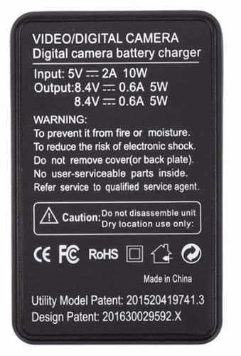 Carregador Duplo Com LCD Para Baterias CANON Modelo LPE6