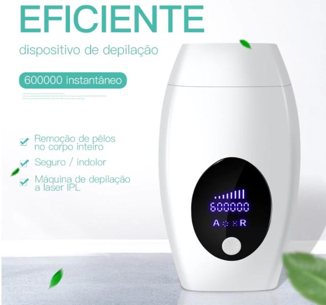 Depilador Laser Luz Pulsada ipl Portatil Elimina Pelos do Corpo