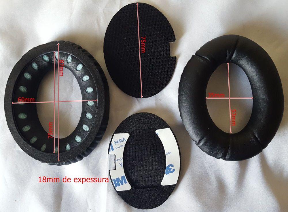 Espuma Fone Headset Bose Qc15 Qc2 Ae2 Ae2i