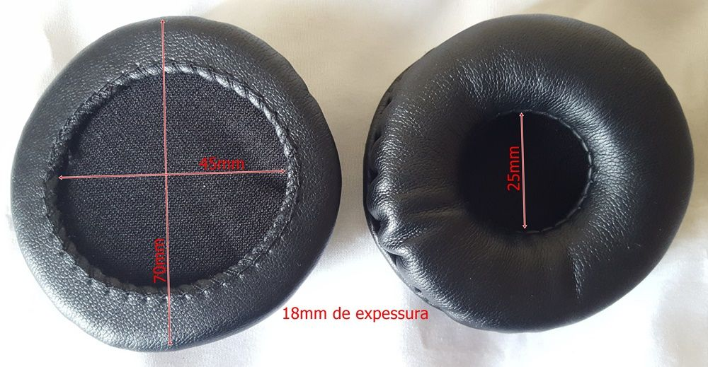 Espuma Fone Headset Sennheiser Hd25-1 Hd25sp Hd25 Pc150 Pc155 e Sony Dr Btn 200 Mdr V150 200 300 400 Zx600