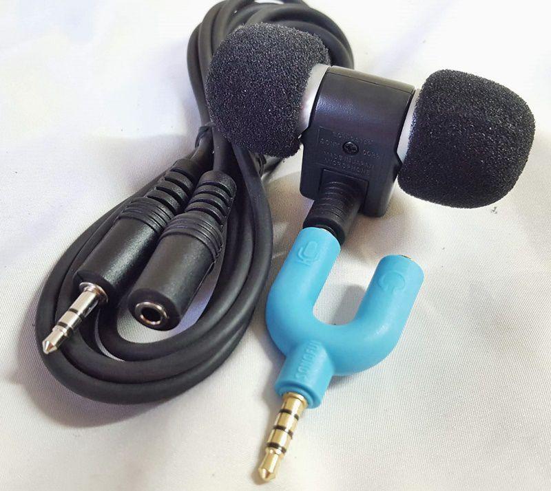 Kit Microfone Similar Sony + Extensor + Adaptador de P3 para P2 (Para ligar no celular)