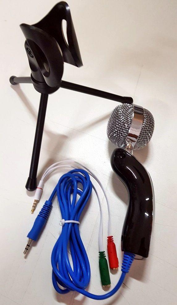 Microfone Condensador Celular sf922 + Adap P3