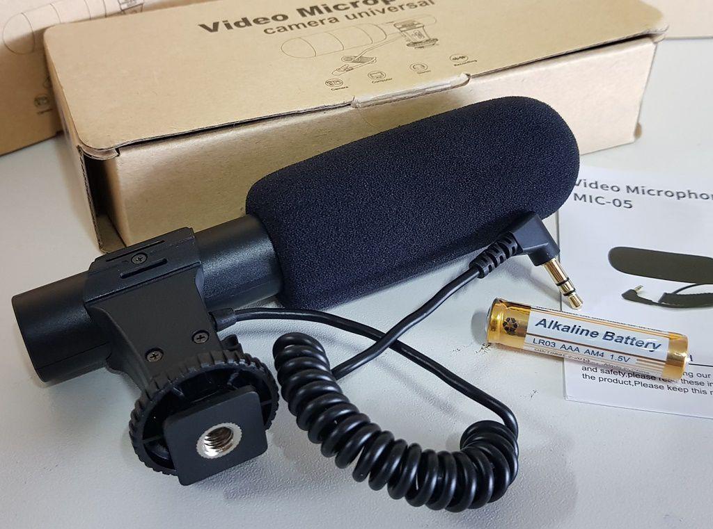 Microfone Direcional Para Câmeras DSLR com 20dB