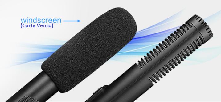 Microfone Direcional Shotgun SIDANDE Para Câmeras DSRL