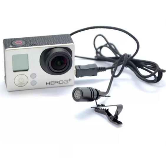 Microfone Lapela Mini Usb Profissional Para GoPro 3 3+ 4
