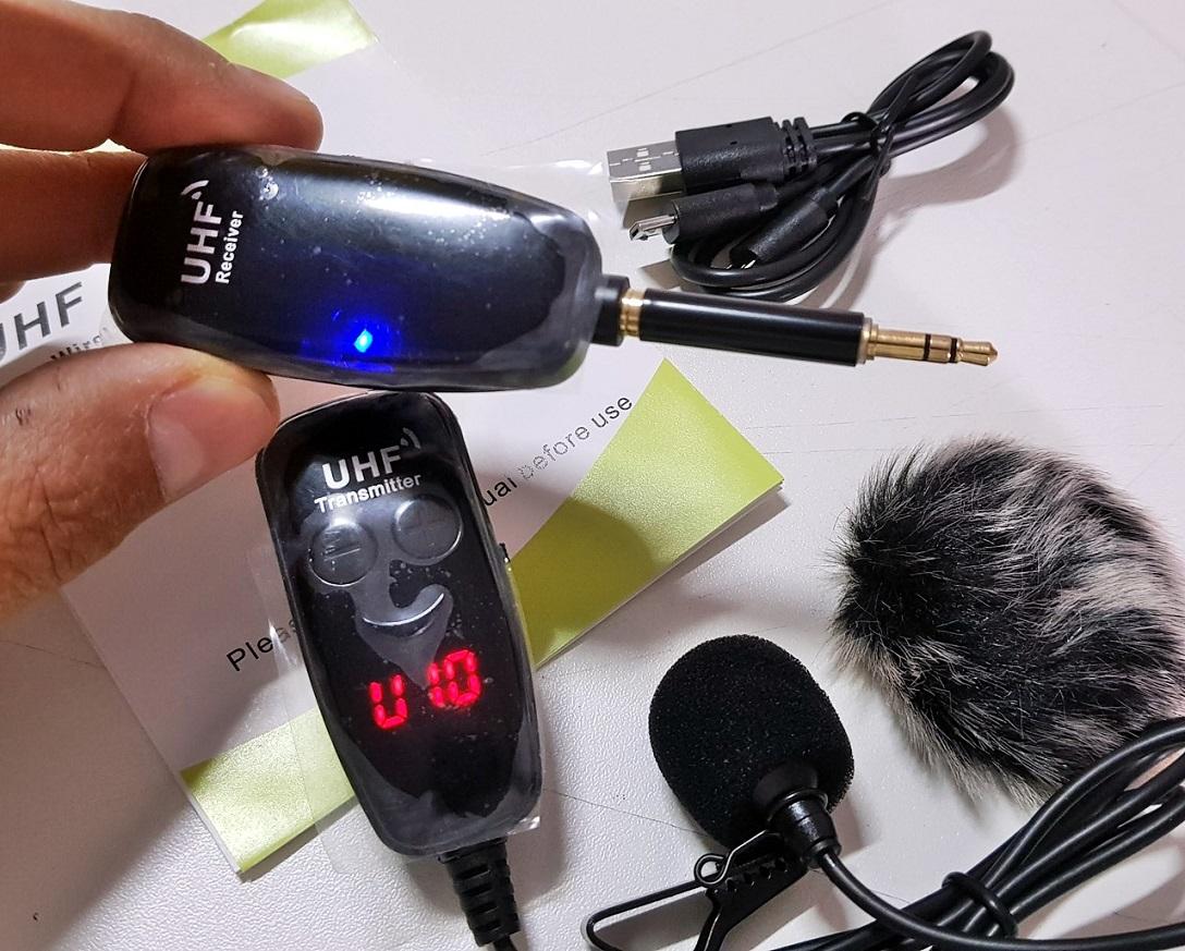 Microfone Lapela Sem Fio Uhf Celular Camera Computador P3 P2