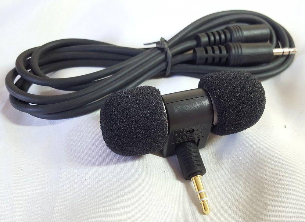 Microfone Similar Sony Ecm-ds70p Estereo + Cabo Extensor de 1,8m
