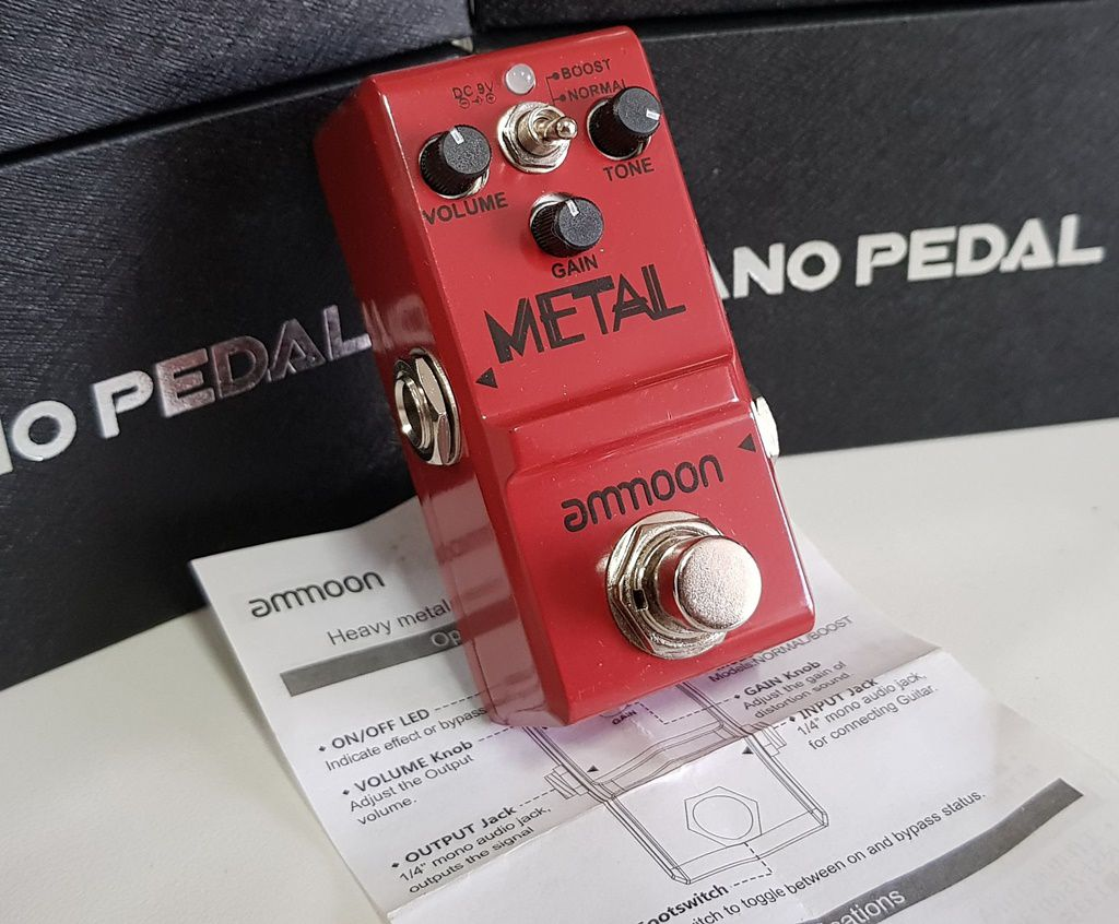 Pedal de Efeito Ammoon Metal modelo nano