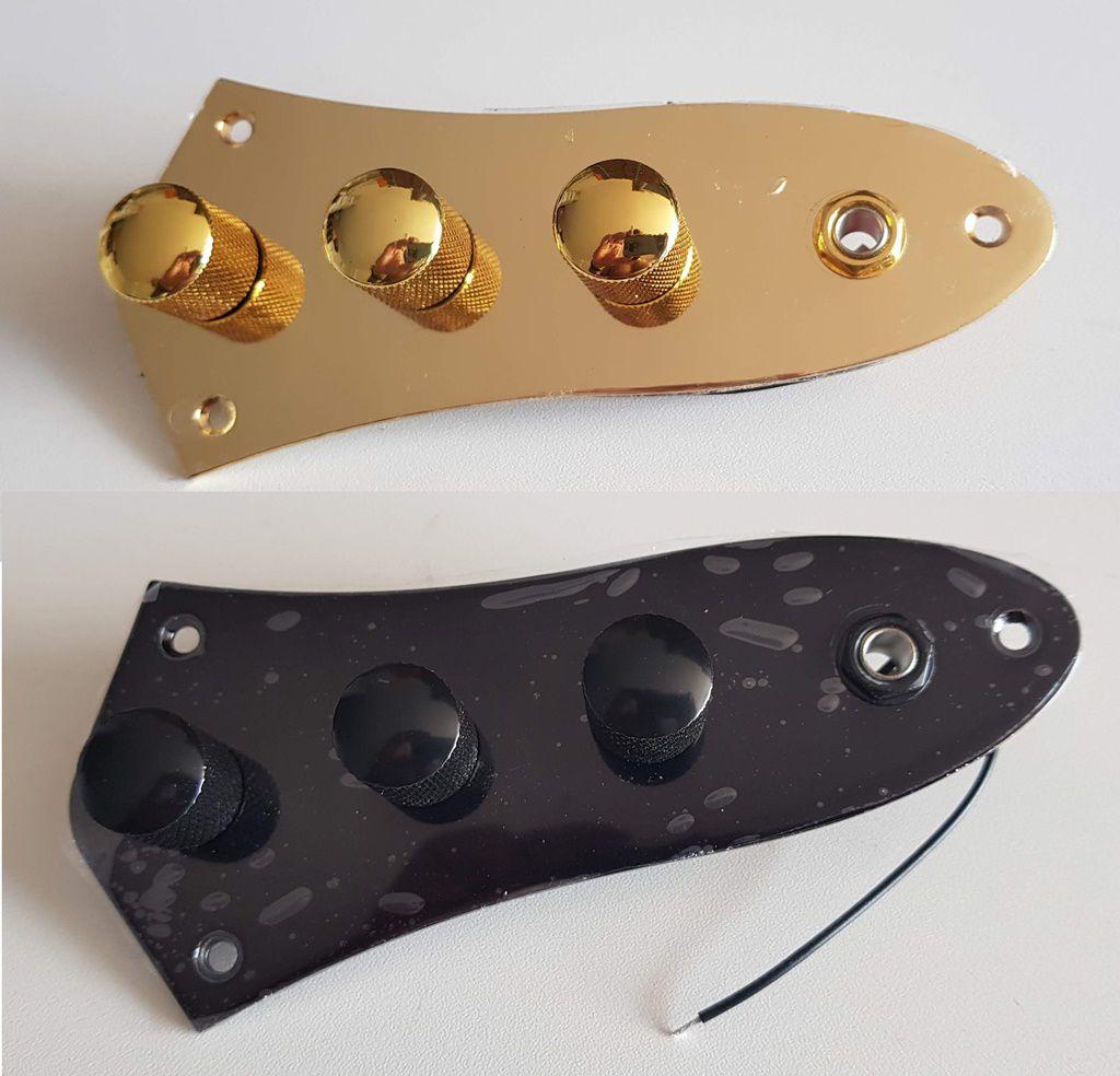 Placa De Controle Baixo Fender Jazz Bass Com Potenciômetros Cores