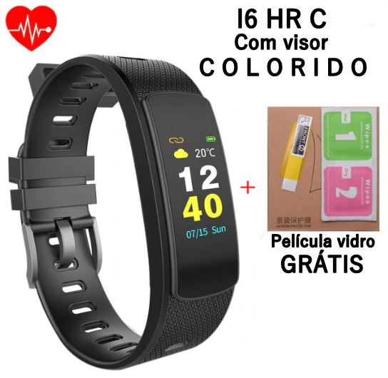 Pulseira Inteligente Smartband Iwownfit I6 HR C / Visor Colorido Monitor Cardíaco