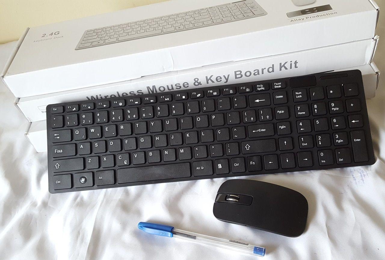 Teclado e mouse sem fio para computador e TV