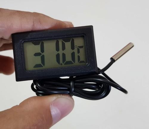 Termômetro Digital LCD Aquario Frezer Chocadeira Adega Vinho