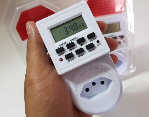 Timer Digital E Temporizador Para Tomada Energia Bivolt liga e desliga Aparelhos