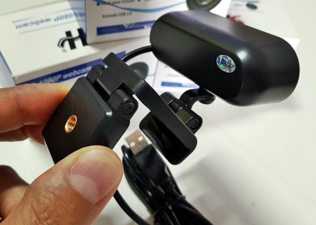Webcam Câmera Full Hd 1080p Com Microfone USB para aulas online live reuniões