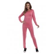 Pijama Longo Feminino para Meia Estação em Viscolycra