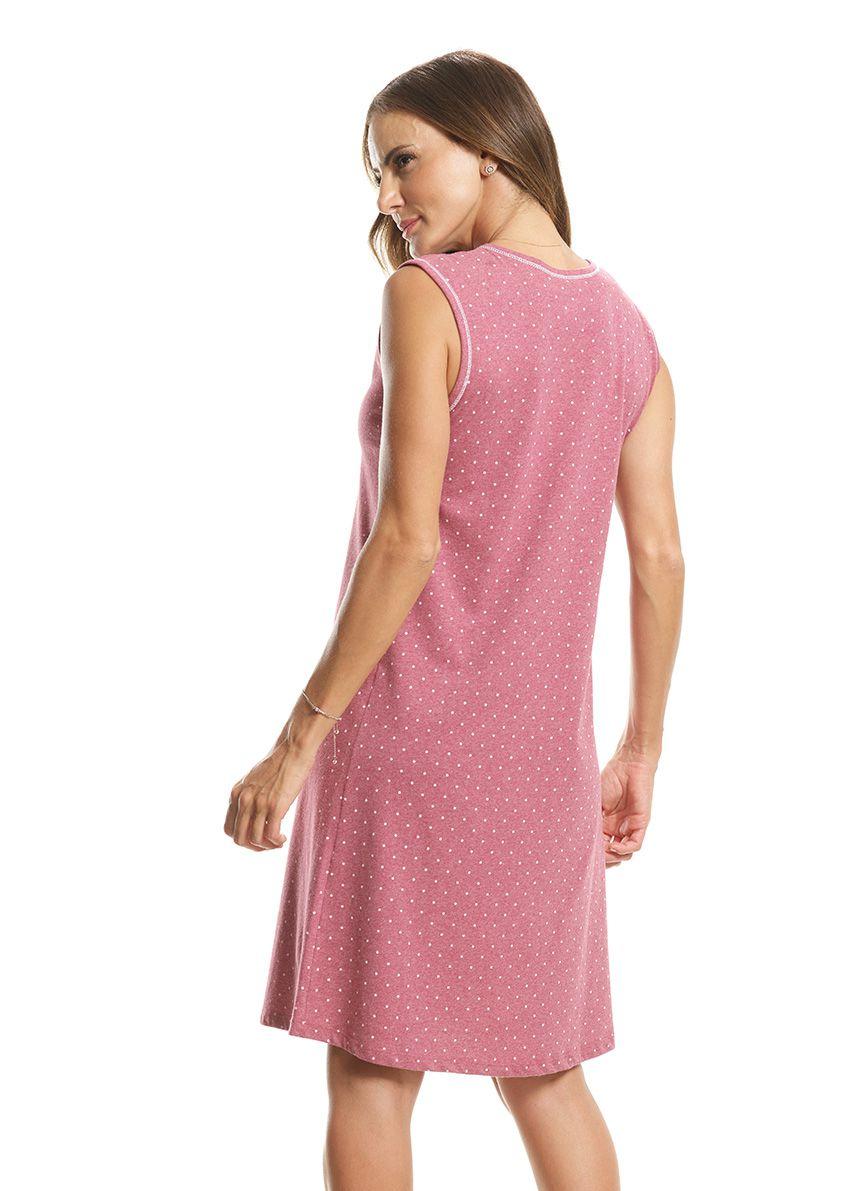 Camisola Clássica sem Manga Costas Fechada em Malha de Algodão