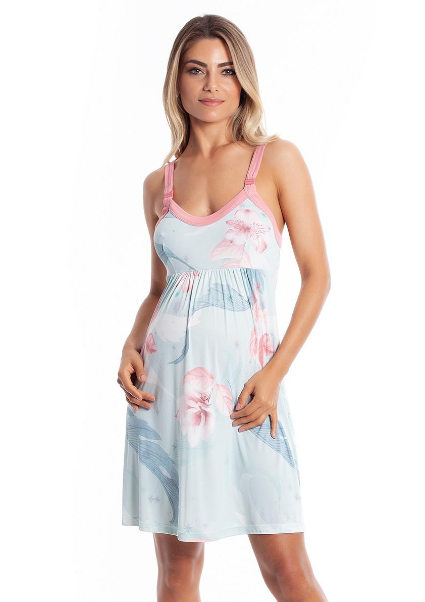 Camisola Maternidade em Liganete Amni com Abertura para Amamentação