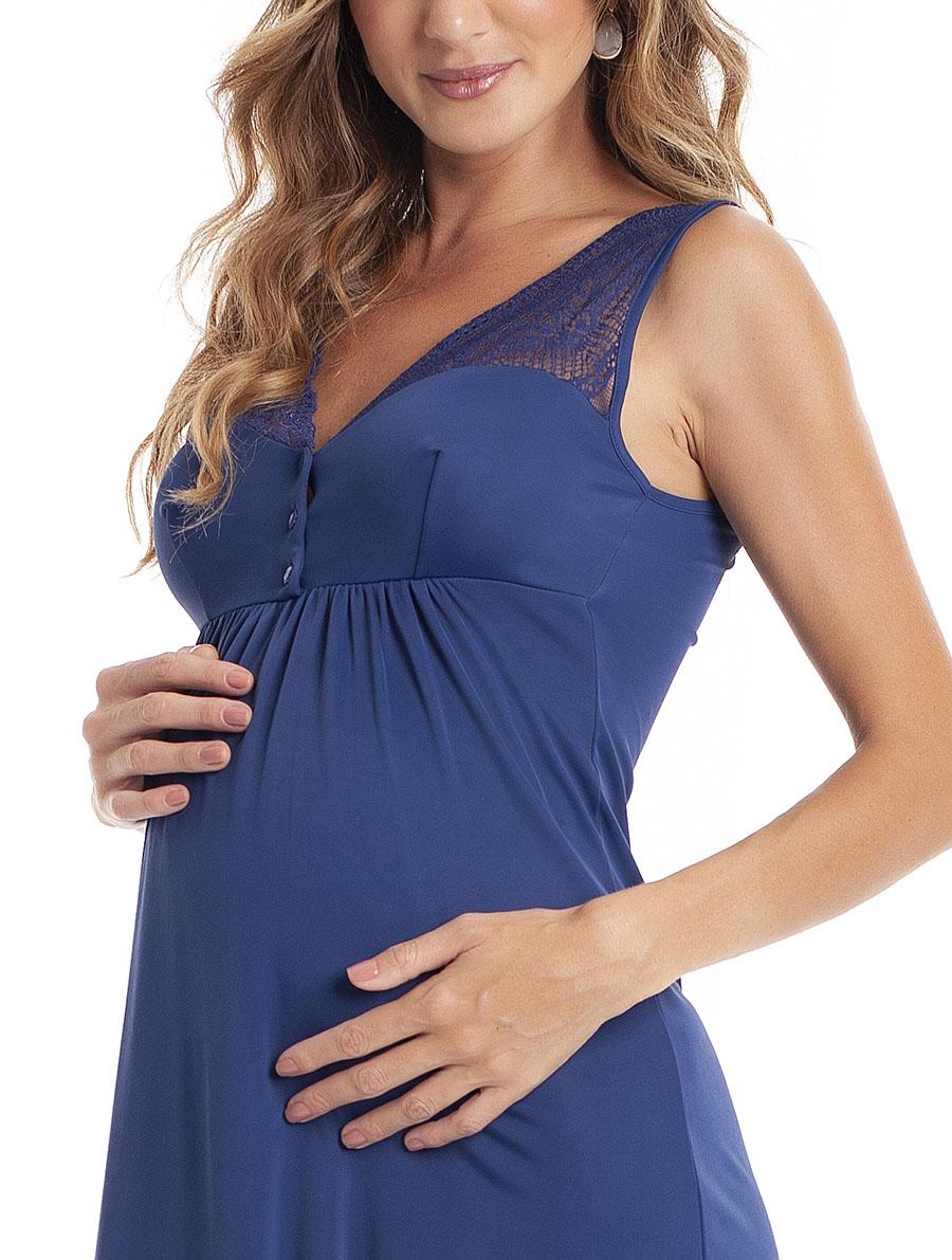 Camisola Maternidade com Abertura para Amamentação em Ligante Amni