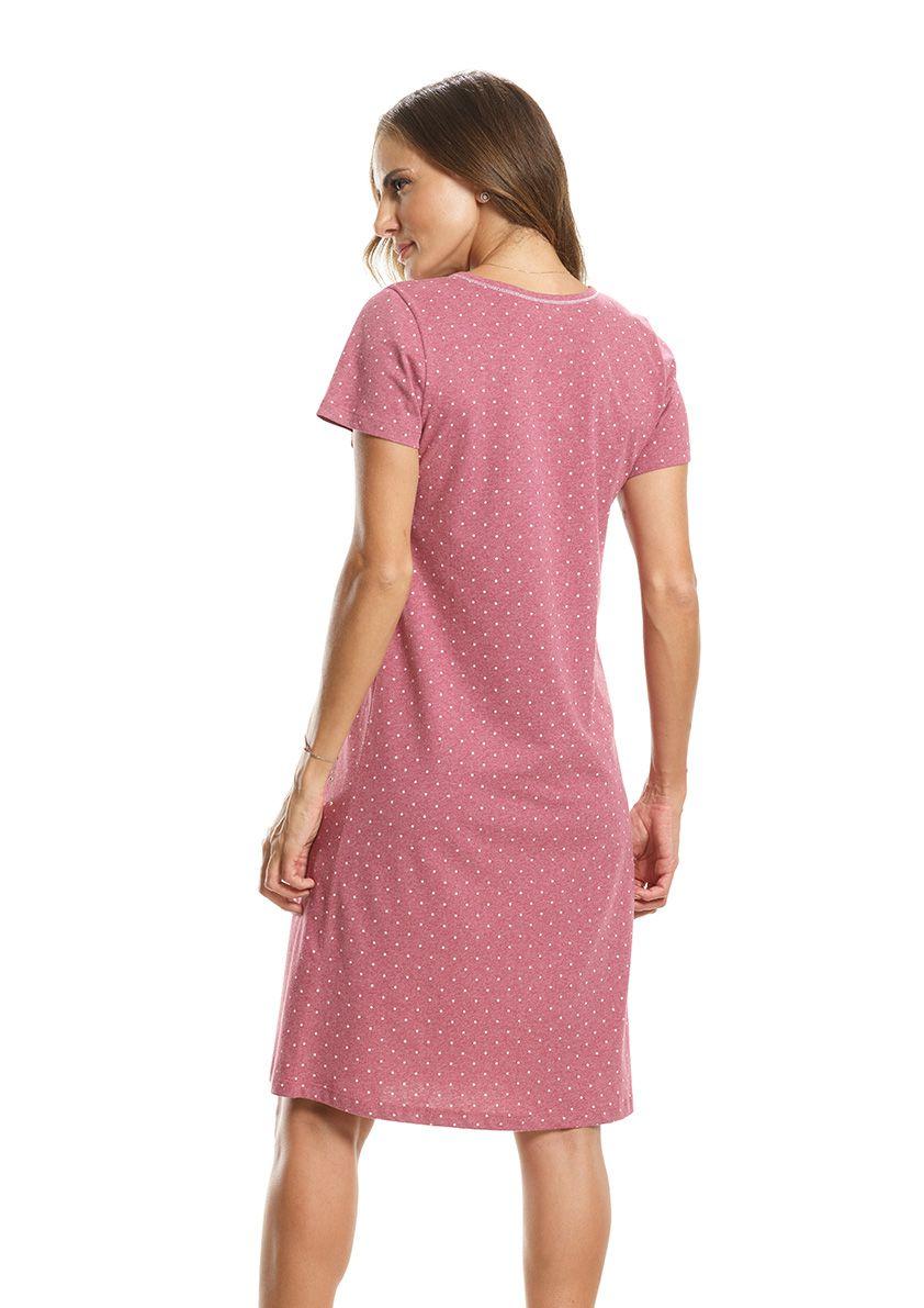 Camisola Clássica com Manga Curta em Malha de Algodão