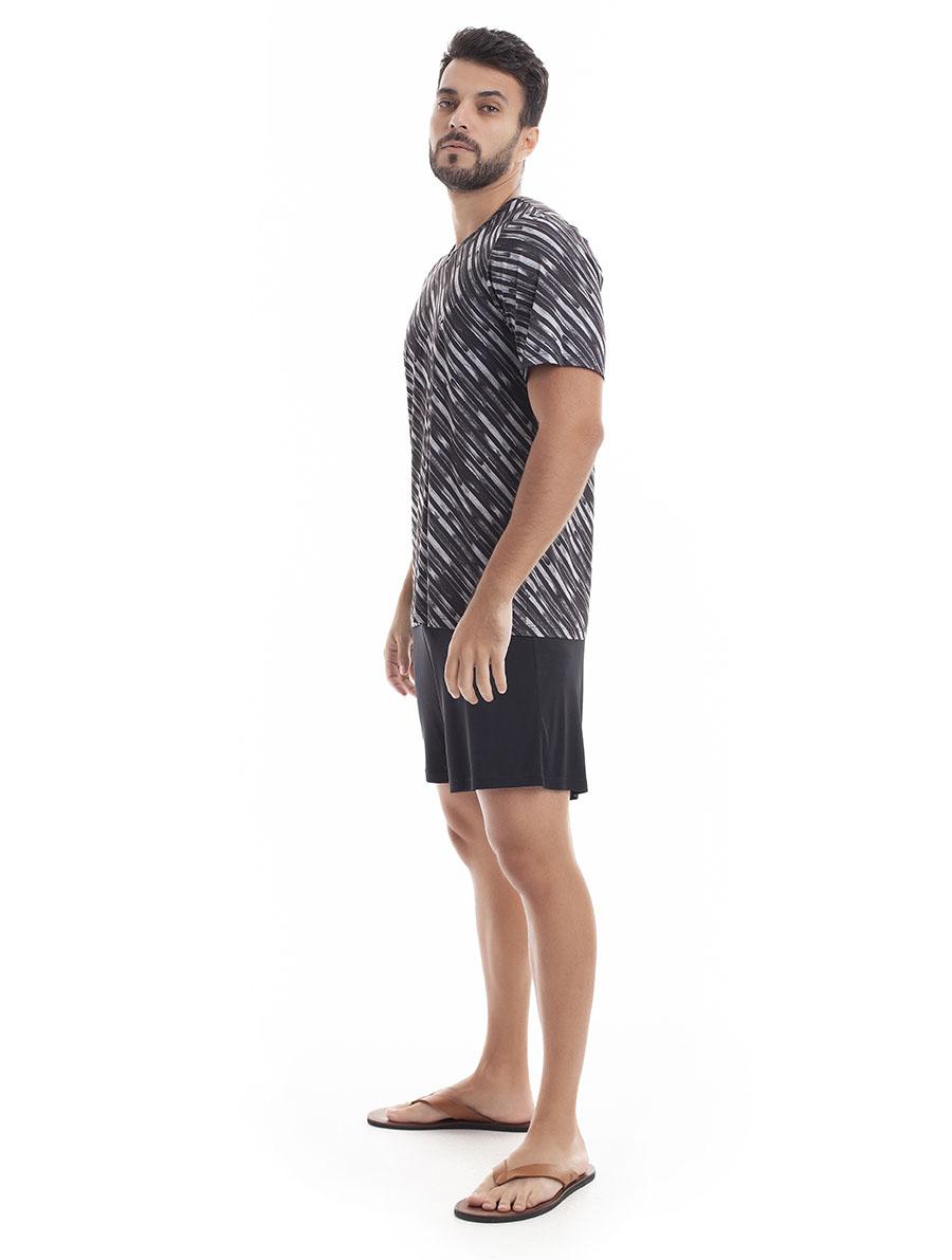 Pijama de Bermuda com Manga Curta para Homem Super Light