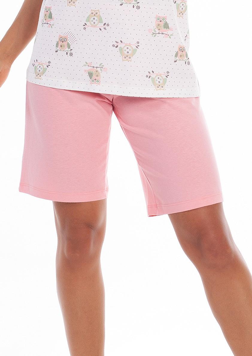 Pijama de Bermuda Regata Abertura Peito em Malha de Algodão