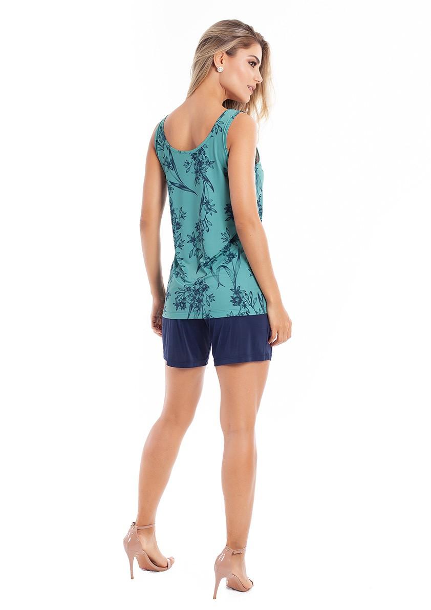 Pijama de Bermuda Regata com Costas Cavada Super Light