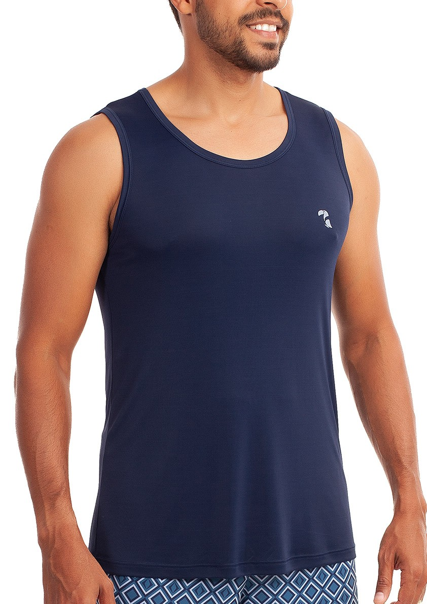 Pijama de Bermuda Regata para Homem Microfibra