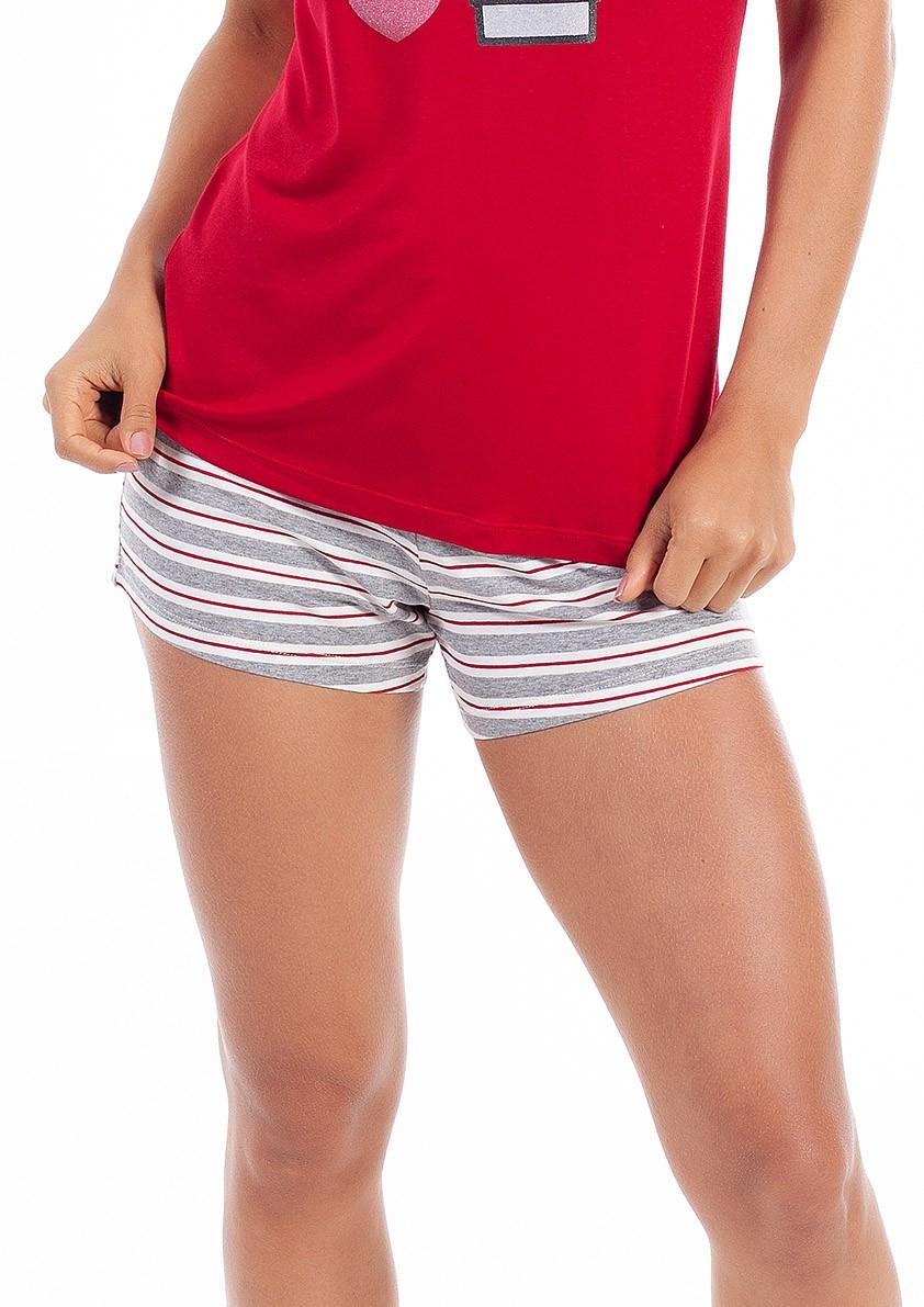 Pijama de Short Regata em Vicolycra