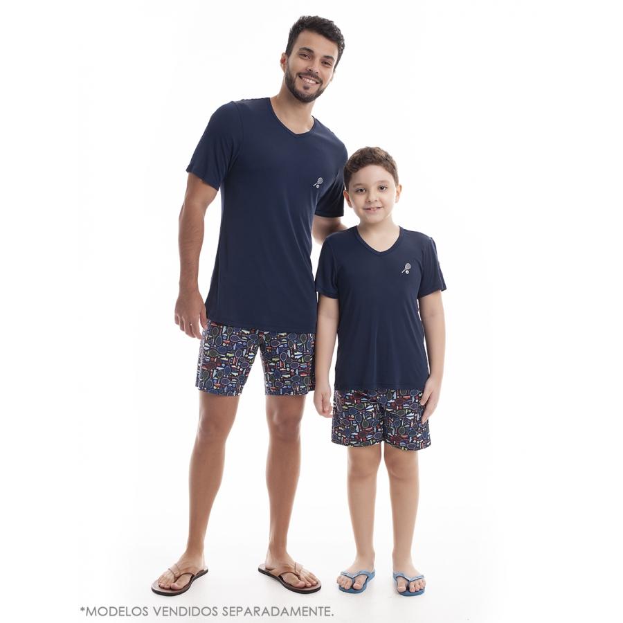 Pijama Infantil de Bermuda com Manga Curta Sublime