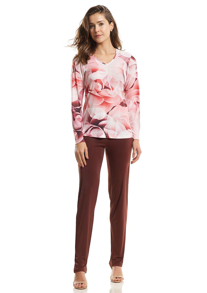 Pijama Longo para Meia Estação em Liganete Amni